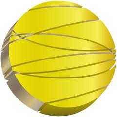 circle 3D golden