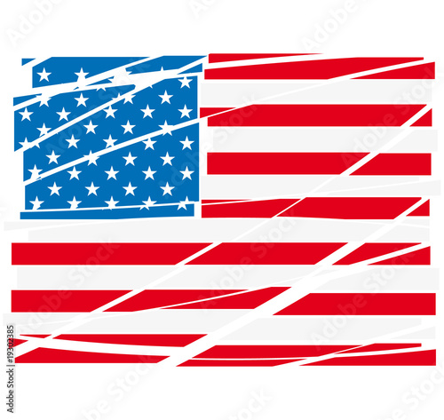 Vector USA flag