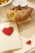 colazione con biglietto di san valentino