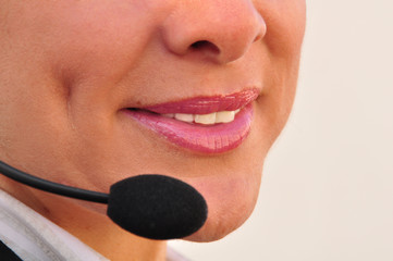 Telephonist answering a customer call