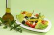 Bauernsalat mit Olivenöl