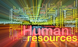 Human resources background concept glowing poster