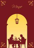 Paar im Restaurant poster