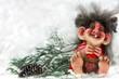 Leinwandbild Motiv Laughting norvegian troll