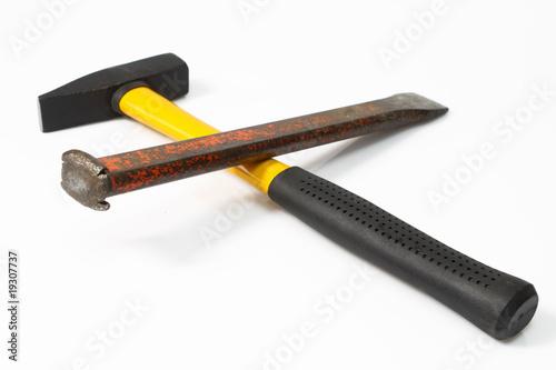 hammer und meissel von birgit reitz hofmann lizenzfreies foto 19307737 auf. Black Bedroom Furniture Sets. Home Design Ideas