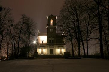 Schloss Albrechtsberg bei Nacht