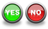 yes and no icon & button