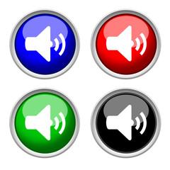 music speaker button & icon