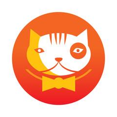 orange cat logo