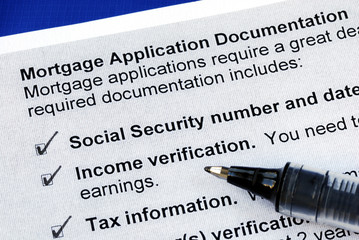 The documents required in a mortgage application