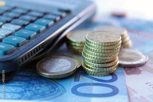 Fototapeta procent - euro - Pieniądze / Banknoty / Karta Kredytowa