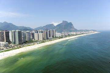Aerial view Barra da Tijuca beach  Rio de Janeiro