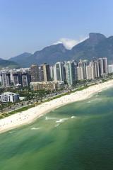 Aerial view Barra da Tijuca beach Rio de Janeiro\