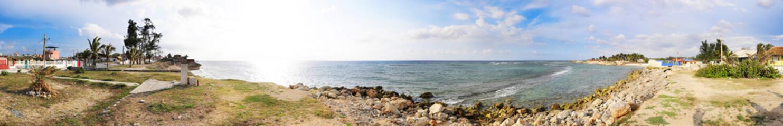 Santa fe beach panorama, cuba
