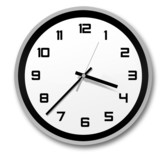 black and white stylish clock
