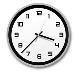 black and white stylish clock