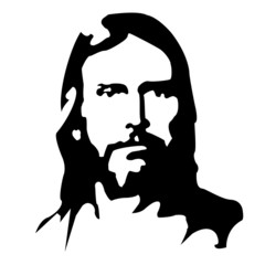 Christ, Jesus shape portrait & illustration