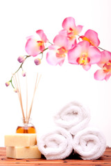 Spa objects with orchid