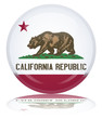 Californian State Round Flag Button (California Republic Vector)