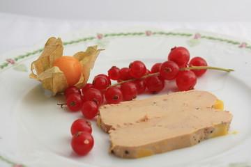 foie gras de canard aux groseilles