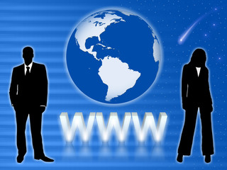 Internet WWW Concept. Business people.