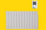 radiateur électrique à inertie fluide avec gestion énergie poster