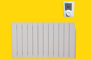 radiateur électrique à inertie fluide avec gestion énergie