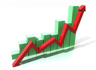 Roter Pfeil Erfolg Diagramm