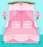 Fototapeta Dla Dziewczynki kreskówka antyczny różowy