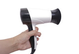 Hair Dryer in a hand poster