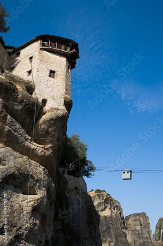 monastery on top rock Meteora