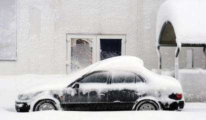 Leave your car in the snow