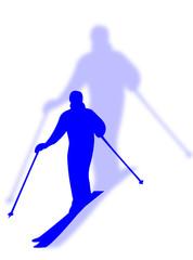 Sciatore con ombra