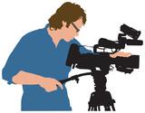 Cameraman illustration poster