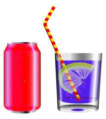 lattina con bicchiere