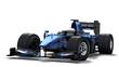 race car on white - black & blue