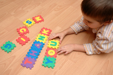 child study the letters