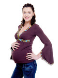 Portrait of  an Young beautiful pregnant woman