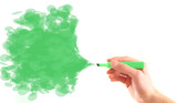 Environment background green marker spray poster