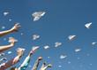 Leinwanddruck Bild - paper airplanes