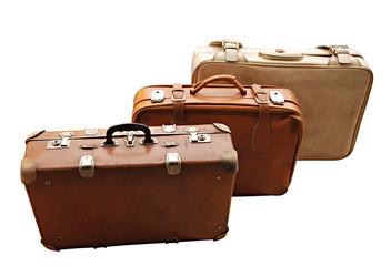 Set of Antique Suitcases