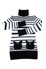 Fashionable striped tunic on a white.