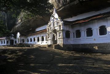 Rock temple, Sri Lanka
