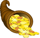 cornucopia monete poster