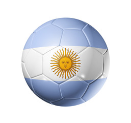 Soccer football ball with Argentina flag