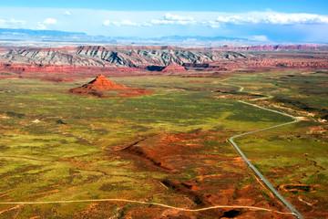 View on space of Arizona. USA