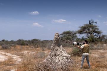 Fotografo nella savana
