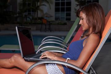 Young attractive twenties brunette Indian businesswoman