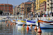 Leinwanddruck Bild - Port de Nice en France dans les Alpes Maritimes