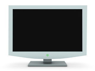 White TV LCD